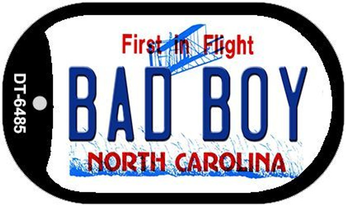 Bad Boy North Carolina Novelty Metal Dog Tag Necklace DT-6485