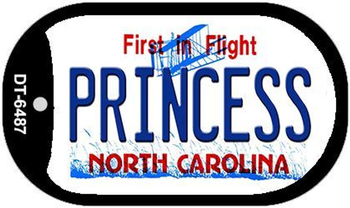 Princess North Carolina Novelty Metal Dog Tag Necklace DT-6487