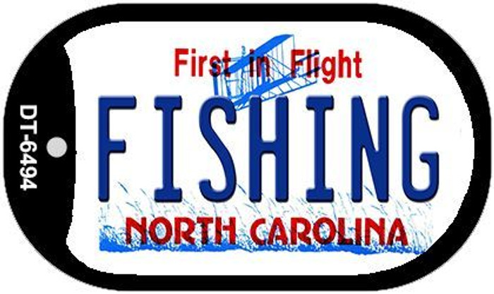 Fishing North Carolina Novelty Metal Dog Tag Necklace DT-6494