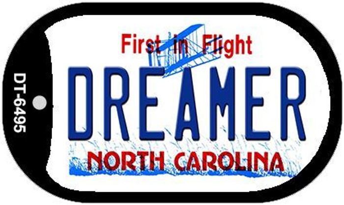 Dreamer North Carolina Novelty Metal Dog Tag Necklace DT-6495