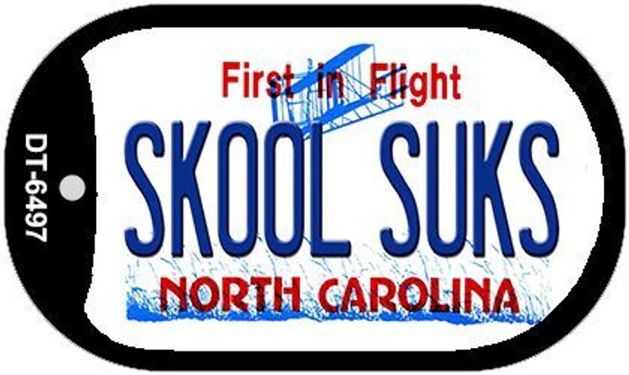 Skool Suks North Carolina Novelty Metal Dog Tag Necklace DT-6497