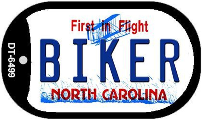 Biker North Carolina Novelty Metal Dog Tag Necklace DT-6499