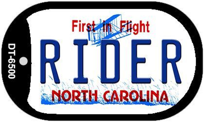 Rider North Carolina Novelty Metal Dog Tag Necklace DT-6500
