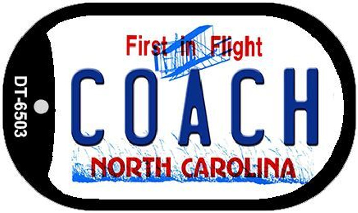 Coach North Carolina Novelty Metal Dog Tag Necklace DT-6503