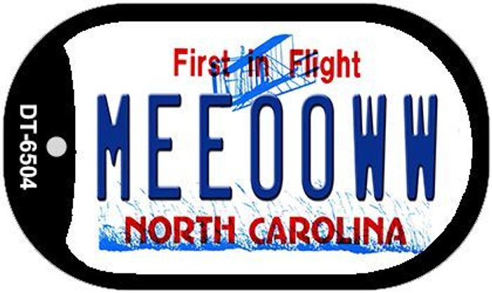 Meeooww North Carolina Novelty Metal Dog Tag Necklace DT-6504