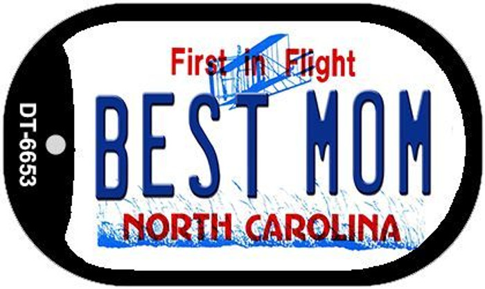 Best Mom North Carolina Novelty Metal Dog Tag Necklace DT-6653