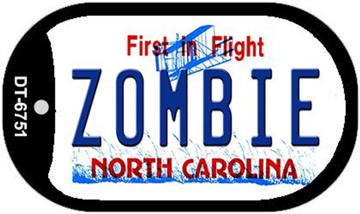 Zombie North Carolina Novelty Metal Dog Tag Necklace DT-6751