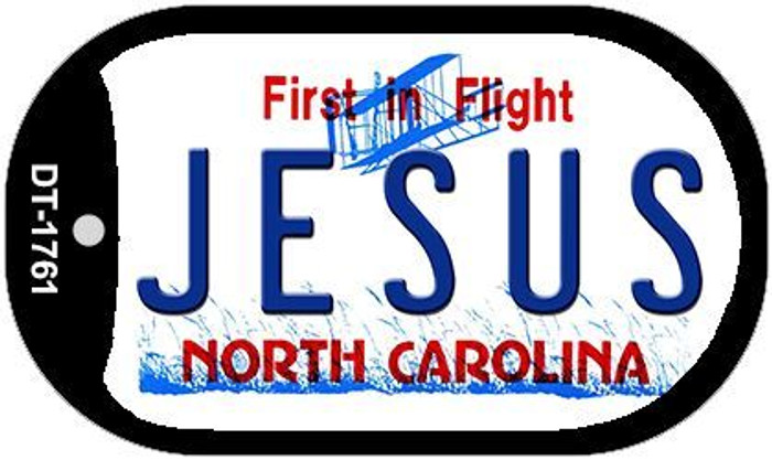 Jesus North Carolina Novelty Metal Dog Tag Necklace DT-1761