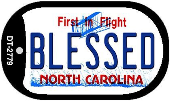 Blessed North Carolina Novelty Metal Dog Tag Necklace DT-2779