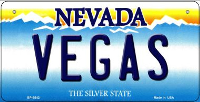 Vegas Nevada Novelty Metal Bicycle Plate BP-9542
