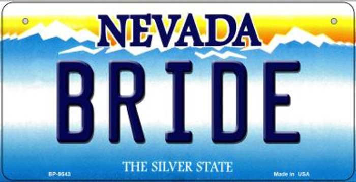 Bride Nevada Novelty Metal Bicycle Plate BP-9543