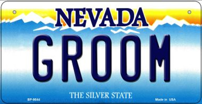 Groom Nevada Novelty Metal Bicycle Plate BP-9544