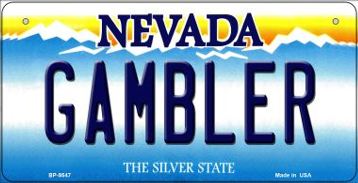 Gambler Nevada Novelty Metal Bicycle Plate BP-9547