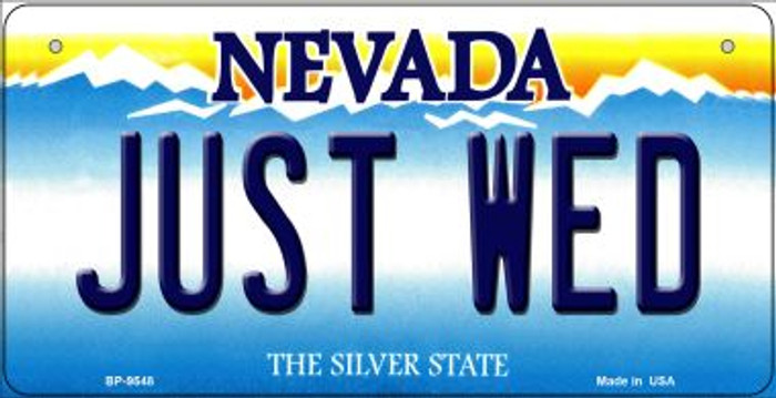 Just Wed Nevada Novelty Metal Bicycle Plate BP-9548