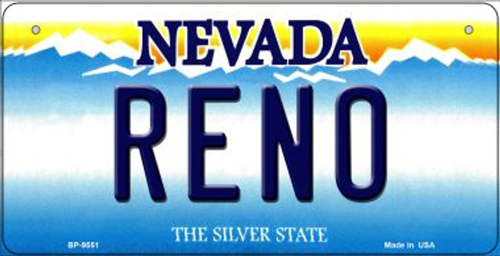 Reno Nevada Novelty Metal Bicycle Plate BP-9551