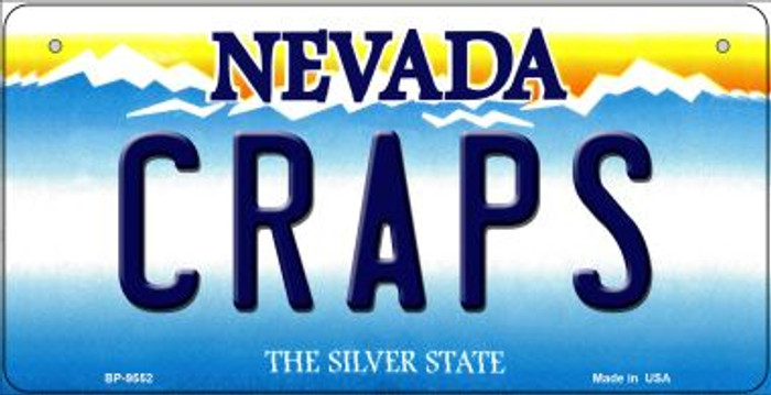 Craps Nevada Novelty Metal Bicycle Plate BP-9552