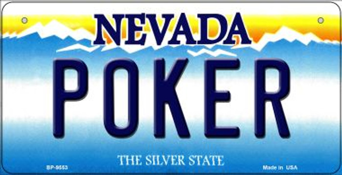 Poker Nevada Novelty Metal Bicycle Plate BP-9553