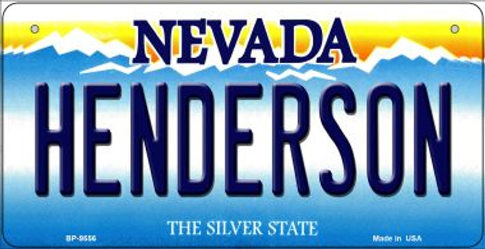 Henderson Nevada Novelty Metal Bicycle Plate BP-9556