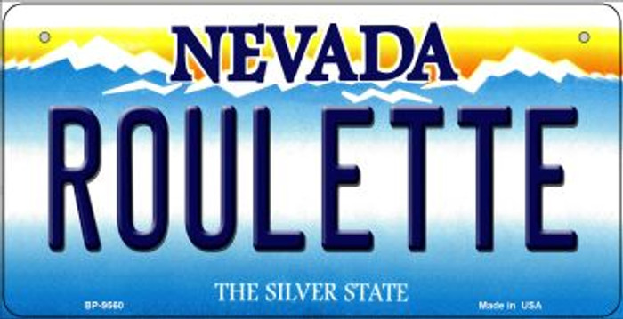 Roulette Nevada Novelty Metal Bicycle Plate BP-9560