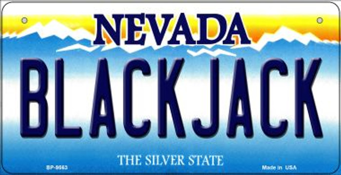 Blackjack Nevada Novelty Metal Bicycle Plate BP-9563
