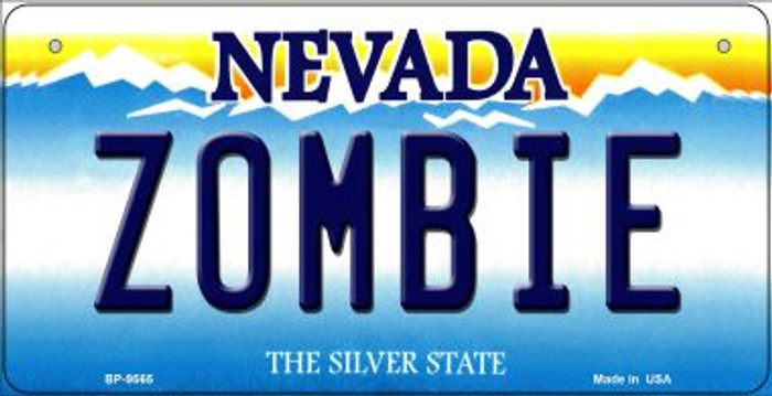 Zombie Nevada Novelty Metal Bicycle Plate BP-9565