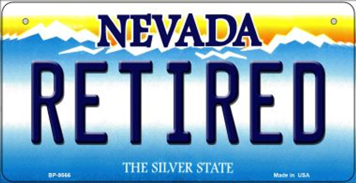 Retired Nevada Novelty Metal Bicycle Plate BP-9566