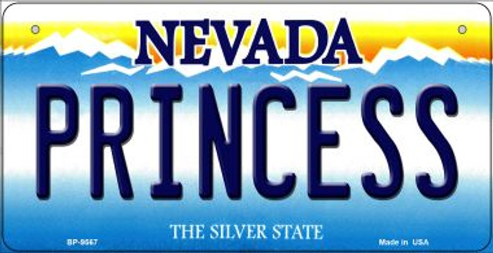 Princess Nevada Novelty Metal Bicycle Plate BP-9567