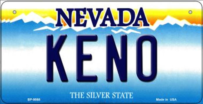 Keno Nevada Novelty Metal Bicycle Plate BP-9568