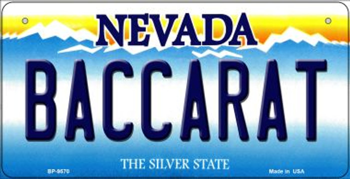 Baccarat Nevada Novelty Metal Bicycle Plate BP-9570