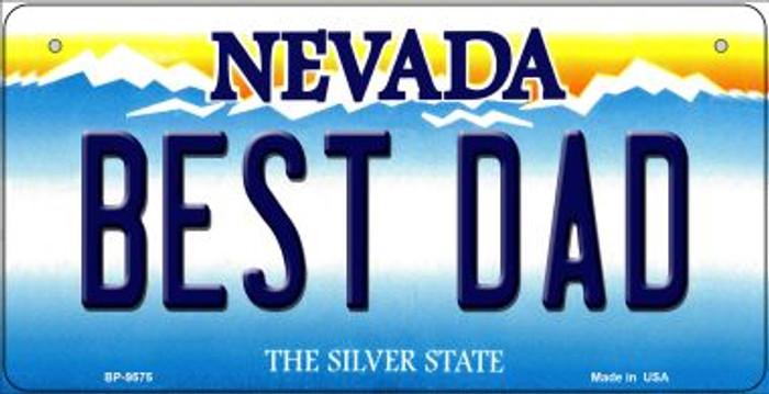 Best Dad Nevada Novelty Metal Bicycle Plate BP-9575