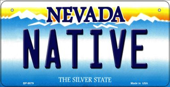 Native Nevada Novelty Metal Bicycle Plate BP-9579