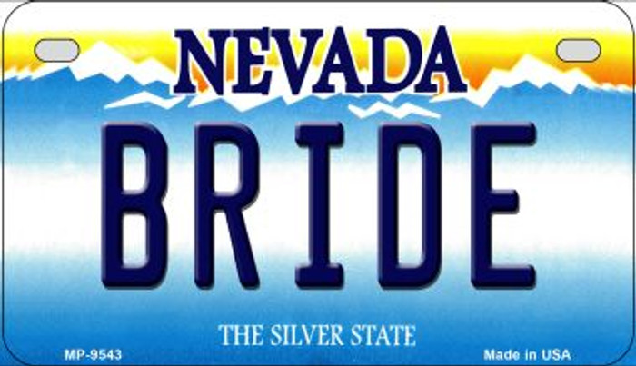 Bride Nevada Novelty Metal Motorcycle Plate MP-9543