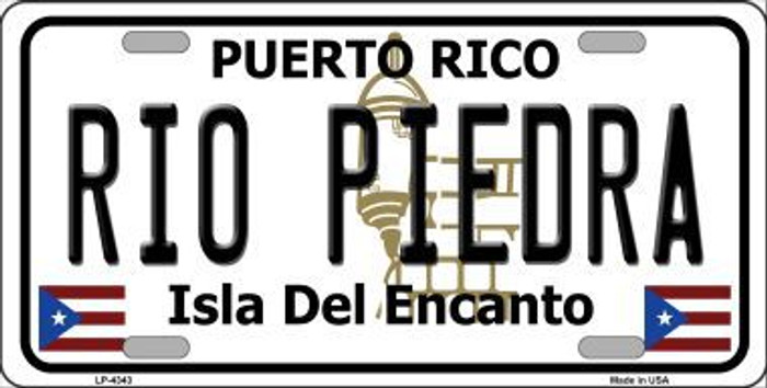 Rio Piedra Puerto Rico Metal Novelty License Plate