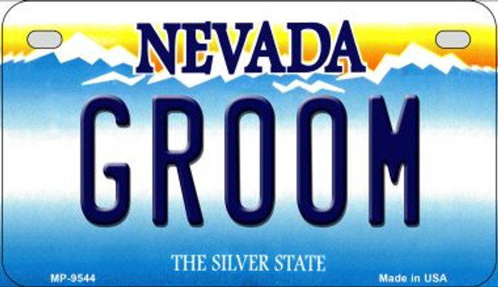 Groom Nevada Novelty Metal Motorcycle Plate MP-9544