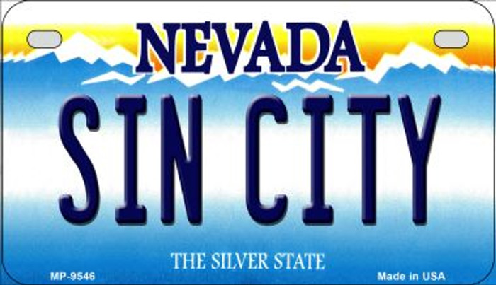 Sin City Nevada Novelty Metal Motorcycle Plate MP-9546