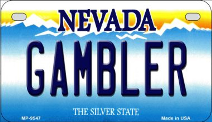 Gambler Nevada Novelty Metal Motorcycle Plate MP-9547