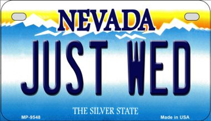 Just Wed Nevada Novelty Metal Motorcycle Plate MP-9548