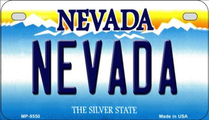 Nevada Novelty Metal Motorcycle Plate MP-9550