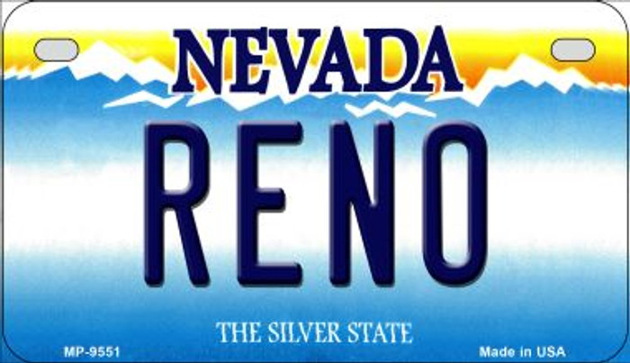 Reno Nevada Novelty Metal Motorcycle Plate MP-9551