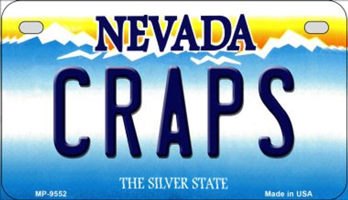Craps Nevada Novelty Metal Motorcycle Plate MP-9552