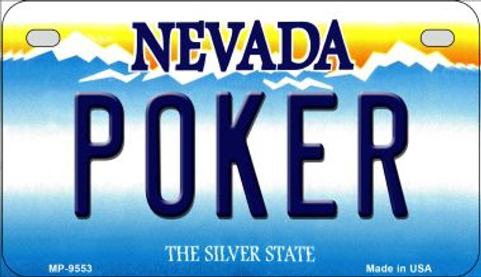 Poker Nevada Novelty Metal Motorcycle Plate MP-9553