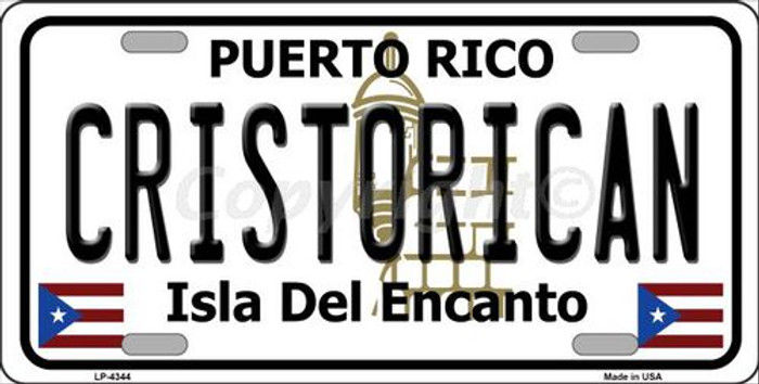Cristorican Puerto Rico Metal Novelty License Plate LP-4344