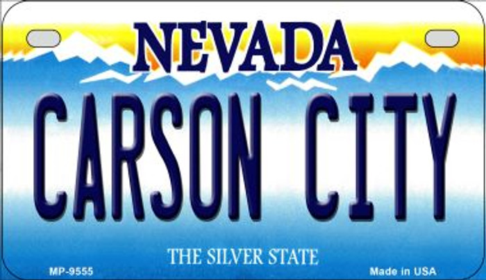 Carson City Nevada Novelty Metal Motorcycle Plate MP-9555