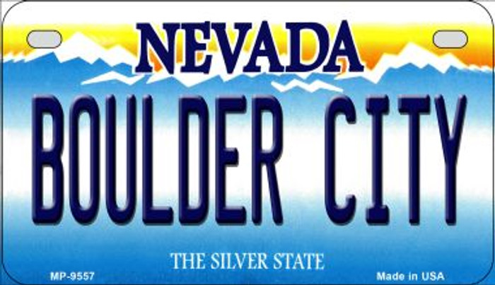 Boulder City Nevada Novelty Metal Motorcycle Plate MP-9557