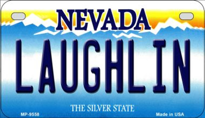 Laughlin Nevada Novelty Metal Motorcycle Plate MP-9558