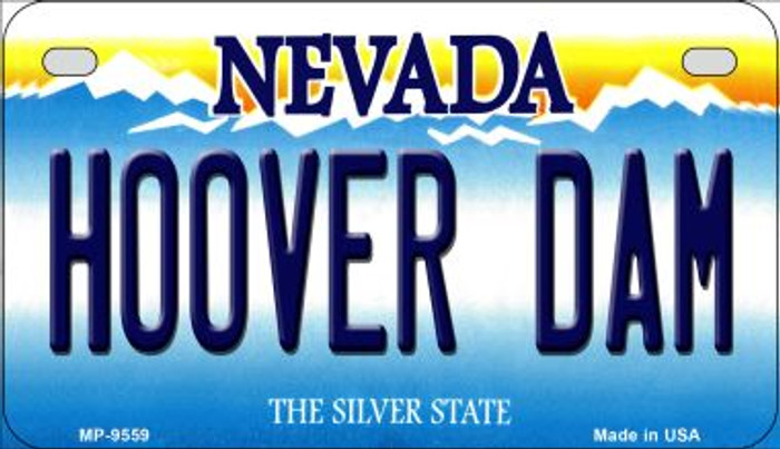 Hoover Dam Nevada Novelty Metal Motorcycle Plate MP-9559