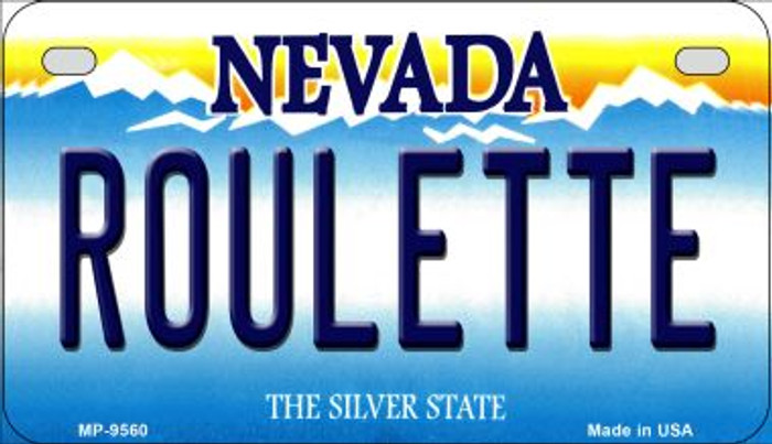 Roulette Nevada Novelty Metal Motorcycle Plate MP-9560