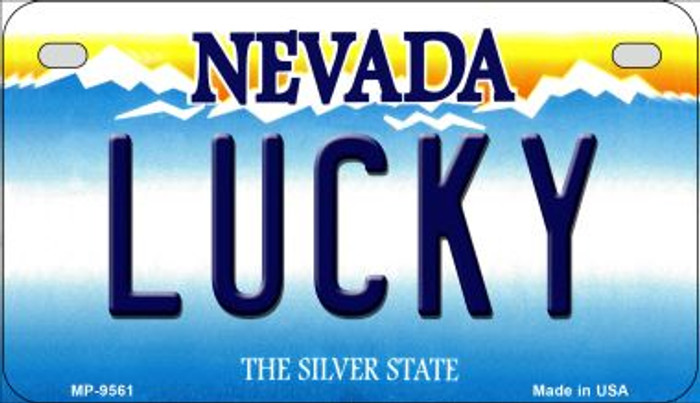Lucky Nevada Novelty Metal Motorcycle Plate MP-9561