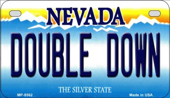 Double Down Nevada Novelty Metal Motorcycle Plate MP-9562