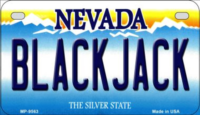 Blackjack Nevada Novelty Metal Motorcycle Plate MP-9563